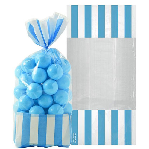 Caribbean Blue Candy Cello Sweet Bags