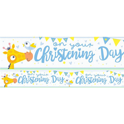 Christening Day Blue Paper Banners