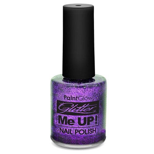 Paint Glow Glitter Nail Polish Purple