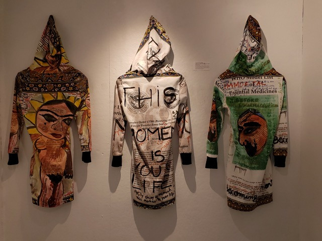 "Artemis Akchoti Shahbazi, ""Sanctionwear"", mixed media, completed in 2019. Courtesy of the artist."