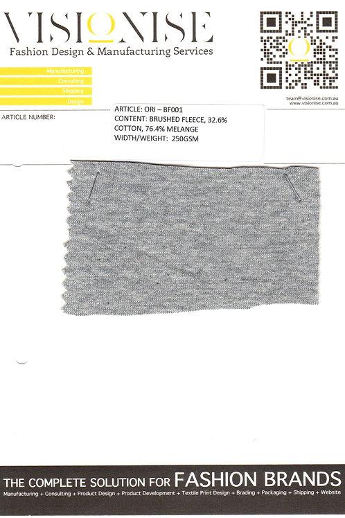 32.6% Cotton 76.4% Melange (brushed fleece)