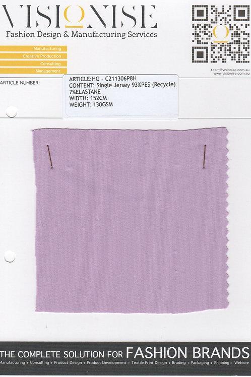 ECOFAB: Single Jersey 93%PES (Recycle) 7%ELASTANE