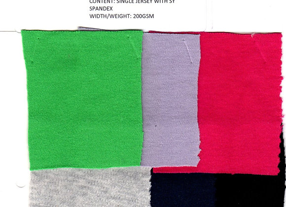 Single Jersey with SY Spandex