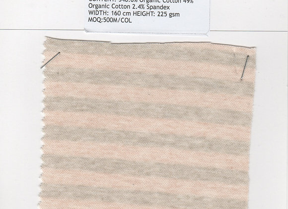 48.6% Organic Cotton 49% Organic Cotton 2.4% Spandex
