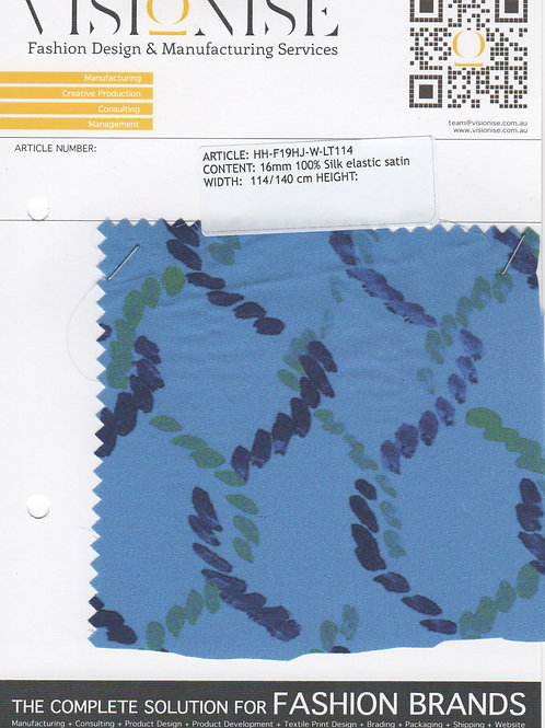 16mm 100% Silk elastic satin