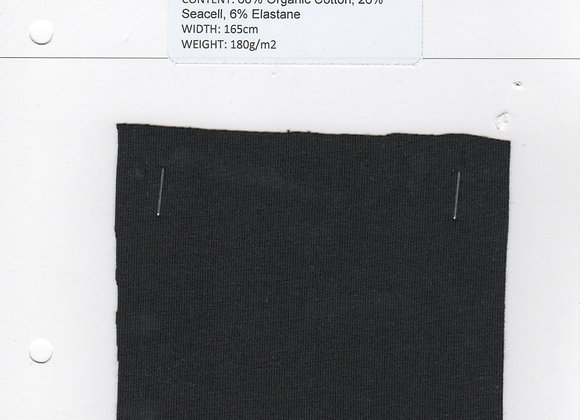 68% Organic Cotton, 26% Seacell, 6% Elastane