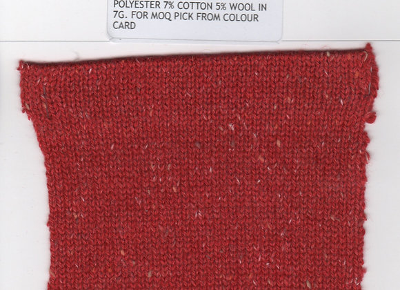 53% ACRYLIC 35% POLYESTER 7% COTTON 5% WOOL