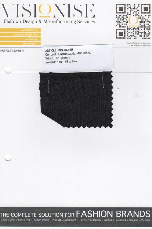 Cotton Modal 40's Black