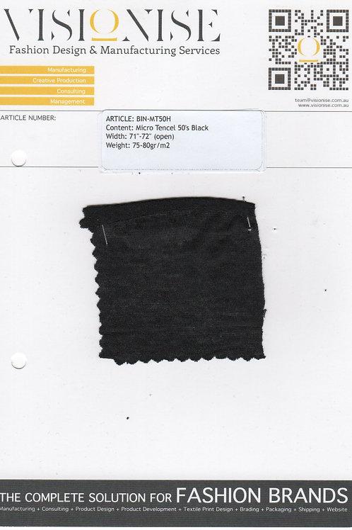 Micro Tencel 50's Black