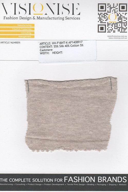 55% Silk 40% Cotton 5% Cashmere