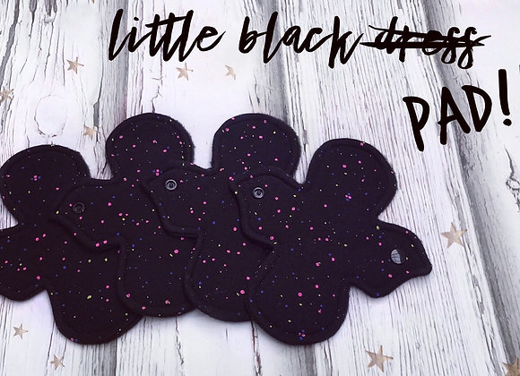 Little black cloth pad - beautiful discreet sanitary pad