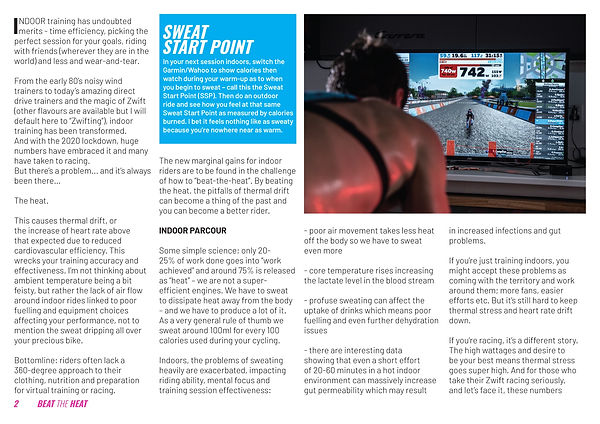 Page two of the Beat the Heat press launch pamphlet