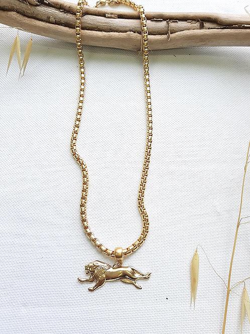 שרשרת סוואנה ספארי אריה זהב שלי דהרי