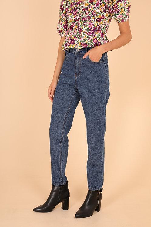 מכנסי ג'ינס בגזרה גבוהה MOM