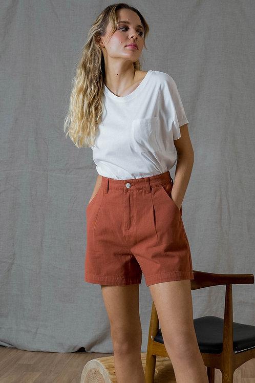 מכנסי כותנה קצרים חמרה