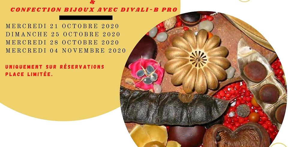 Atelier  découverte graines de la Guadeloupe  & confection bijoux avec DIVALI-B-PRO