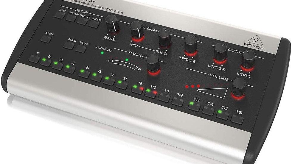 BEHRINGER P16-M 16-Channel Digital Personal Mixer Black & Grey