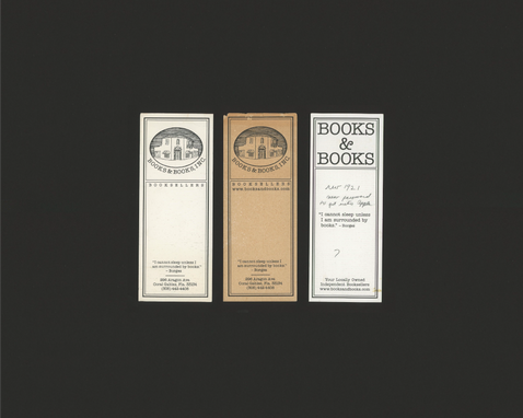 Old Books & Books Bookmarks (Verso)