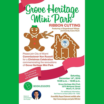 Grove Heritage Mini Park Ribbon Cutting