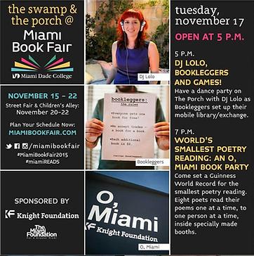 Bookleggers with MBFI and O, Miami at Miami Book Fair