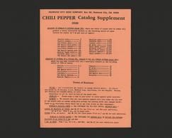 Chili Pepper Catalog Supplement (Recto)