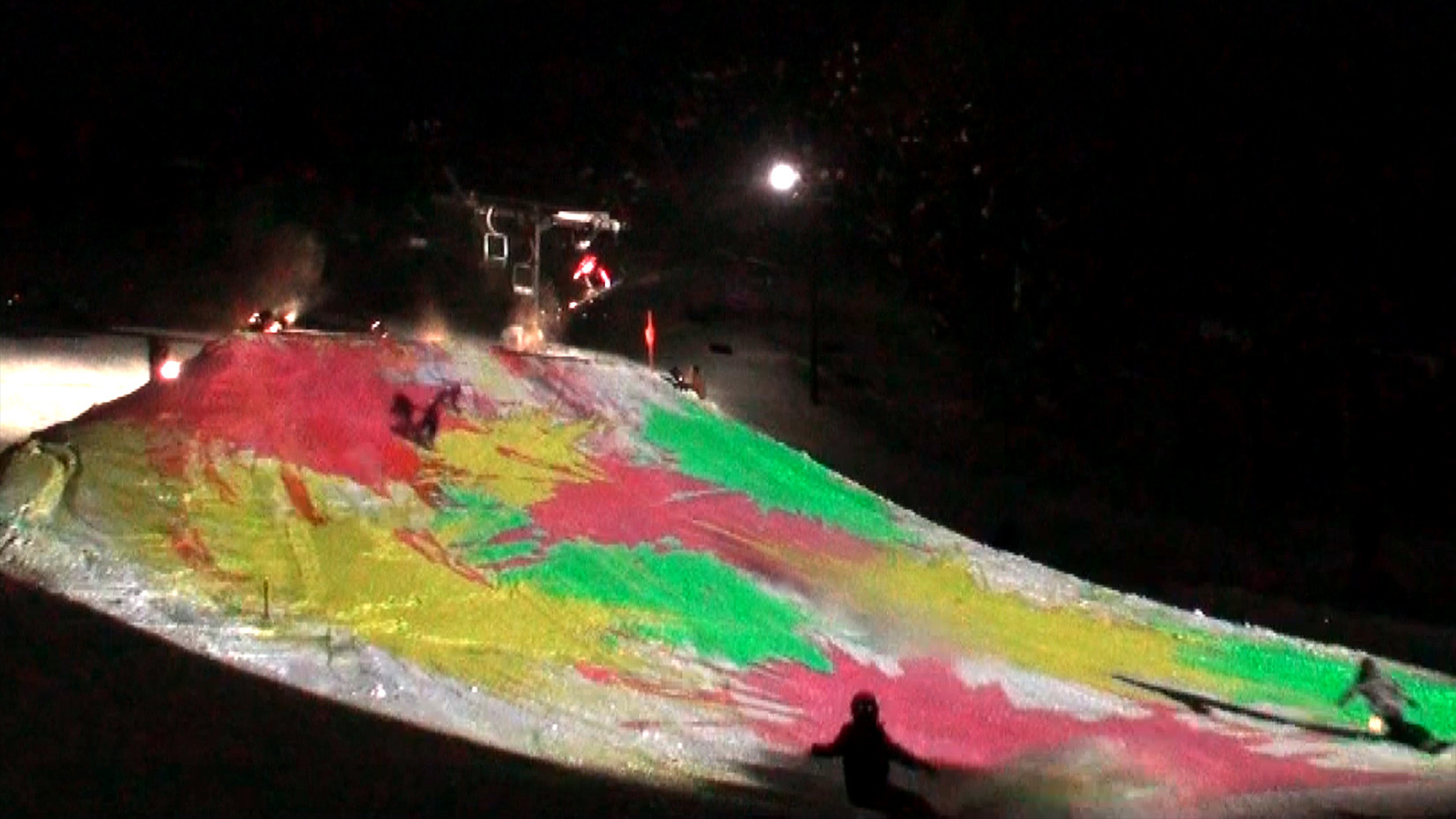 蔵王温泉スキー場プロジェクションマッピング