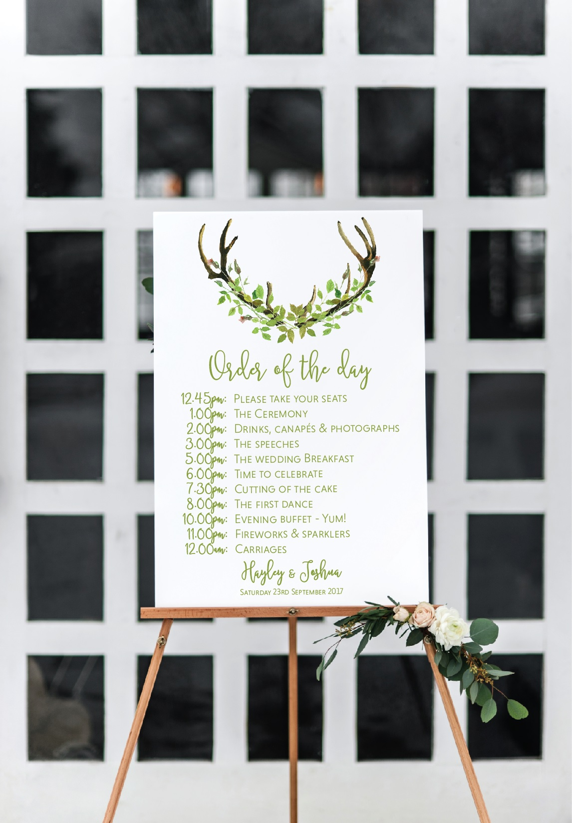 Personalised wedding signage