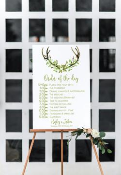 Personalised wedding signage