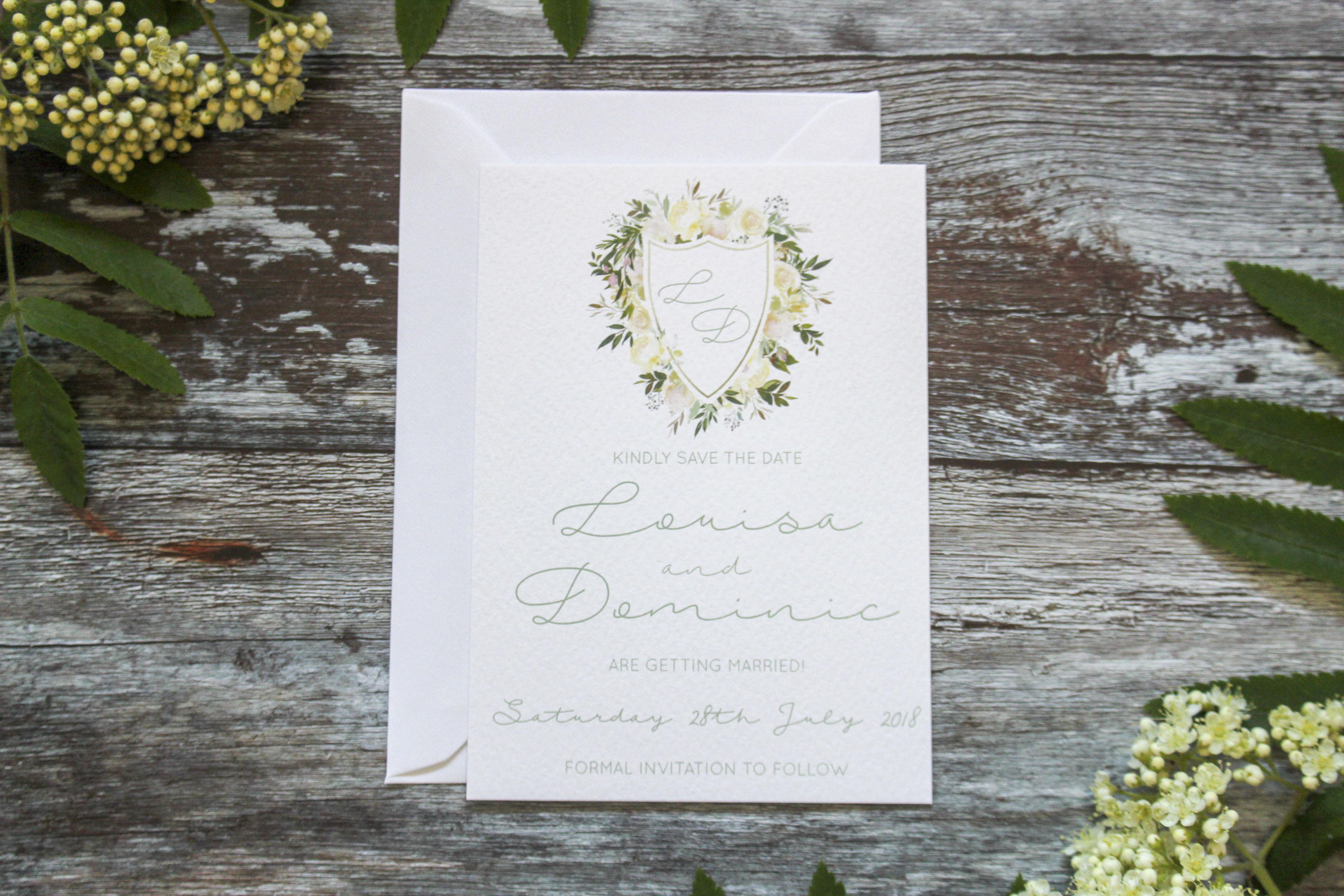 elegant wedding save the date