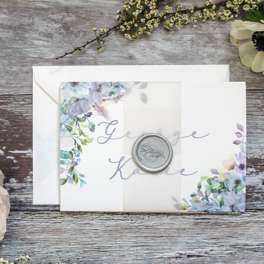 concertina wedding invites vellum wax se