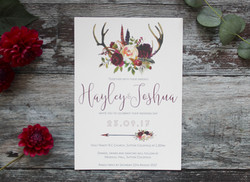 antler wedding invitation