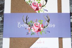 rustic floral wedding stationery