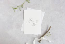 minimalist wedding invitation