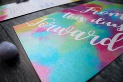 pearlised wedding invitations