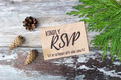deer rustic wood wedding invitations