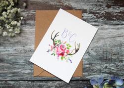 spring wedding rsvp card