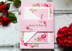 Rustic bloom wedding invitations