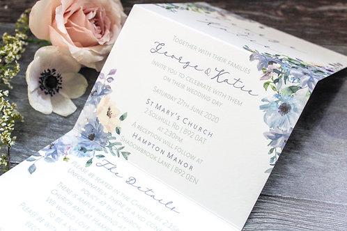 Concertina Invitation - Blossom