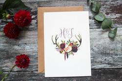 wedding invitation with initials