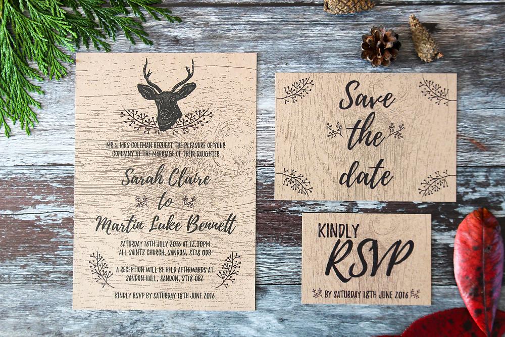rustic wedding stationery west midlands