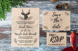 rustic forest wedding invitation