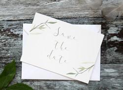 wedding botanical save the dates