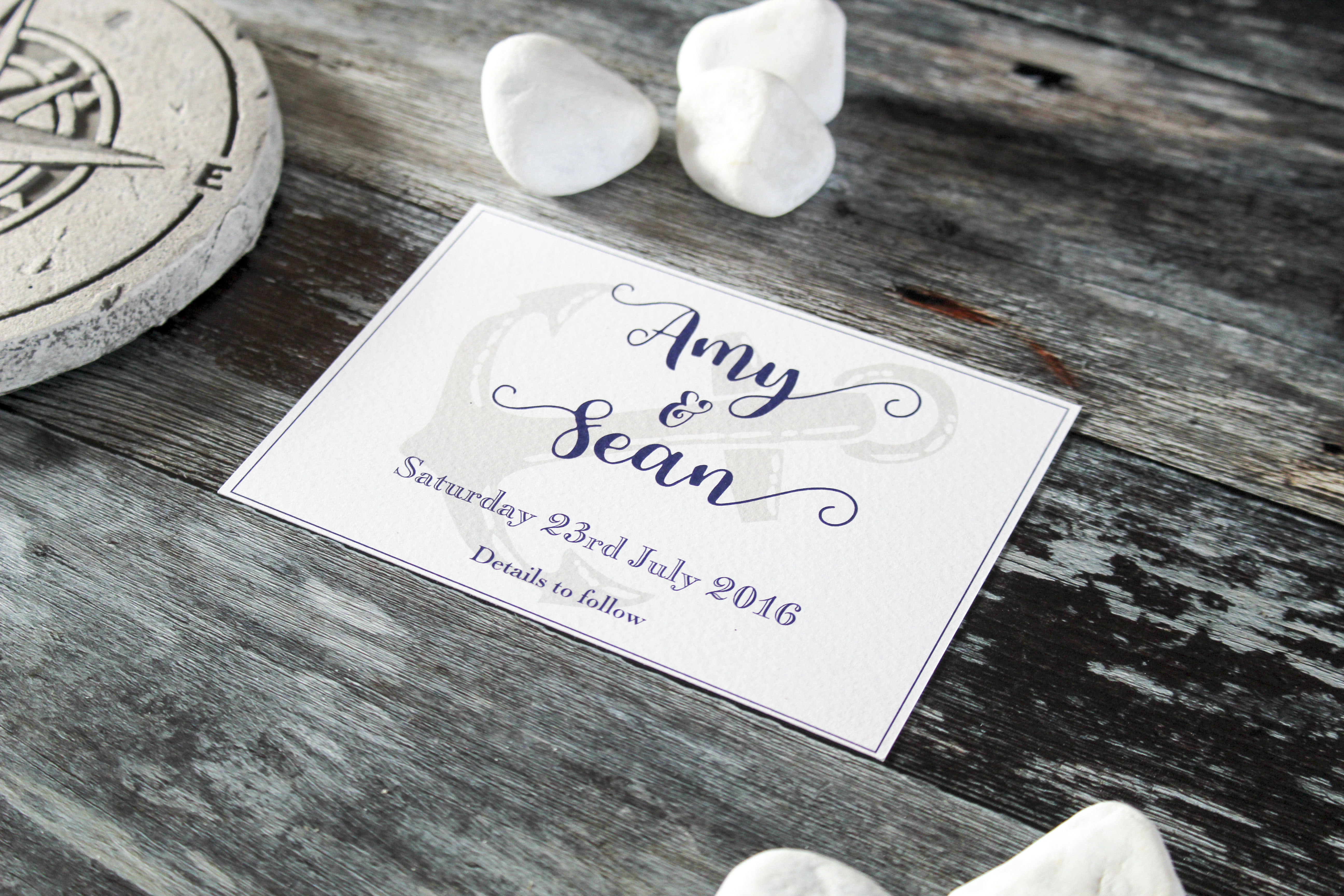 anchor wedding invitations