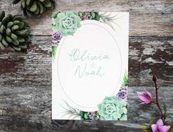 Succulent wedding invite
