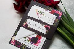 dark floral wedding stationery set