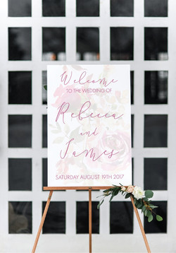 personalised wedding welcome sign