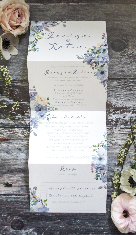 concertina wedding invitation