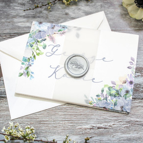 Concertina wedding invitations