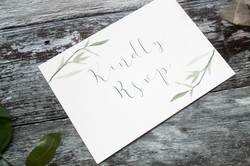 rustic watercolour rsvp cards