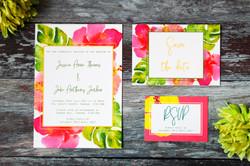 tropical wedding invitations